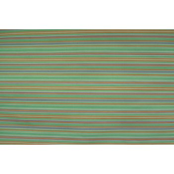 Крафт в рулоне зеленый/оранж полоска 70см*10м