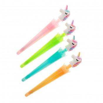 Ручка шариковая-прикол, «зонтик с единорогом», микс