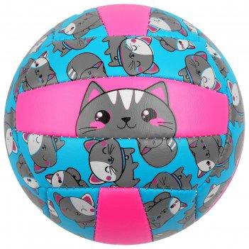Мяч волейбольный onlitop кошечка р.2, 150 гр, 2 подслоя, 18 панелей, pvc,