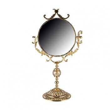 Зеркало золотое 30см.розаперла 67см.