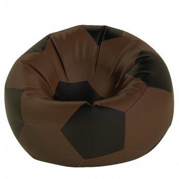 Кресло-мешок мяч средний, ткань нейлон, цвет коричневый, черный