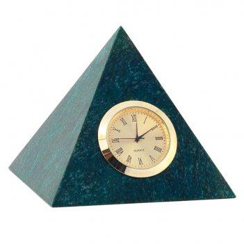 Часы пирамида большая змеевик