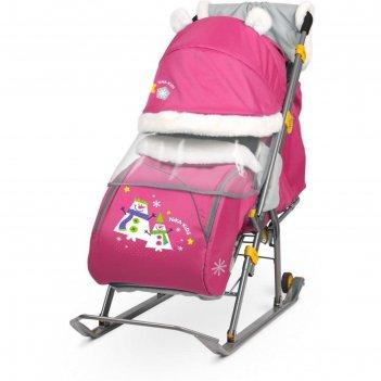 Санки коляска «ника детям 6», цвет: шоколад