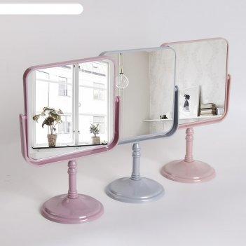 Зеркало наст пласт нож квад (2) флёр 15*15/17,3*26,5см б/увел микс к/кор