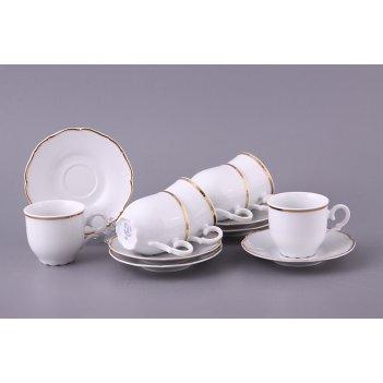 Кофейный набор на 6 персон 12 пр. офелия 662 100 мл