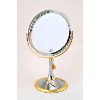 Зеркало b7 207 c/g chrome&gold настольное 2-стор. 5-кр.ув.1