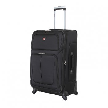 Чемодан wenger sion, чёрный, полиэстер 750x750d добби, 46x29x80 см, 90 л