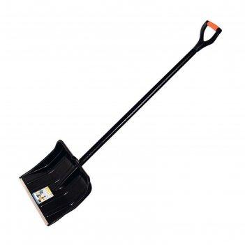 Лопата пластиковая, ковш 490 x 380 мм, с металлической планкой, деревянный