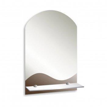 Зеркало «баунти», настенное, с полочкой, 39х58,5 см