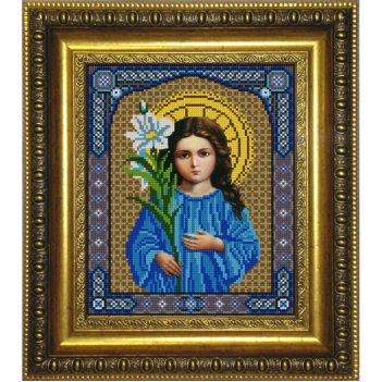 """""""богородица трилетствующая"""" рисунок на ткани для вышивания бисер"""
