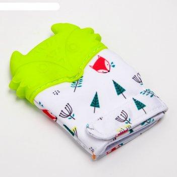 Прорезыватель-рукавичка, цвет микс
