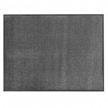 Коврик влаговпитывающий ребристый 90х120 см комфорт цвет серый