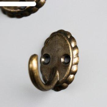 Крючок металл ретро бронза 3,9х3,3х2,7 см