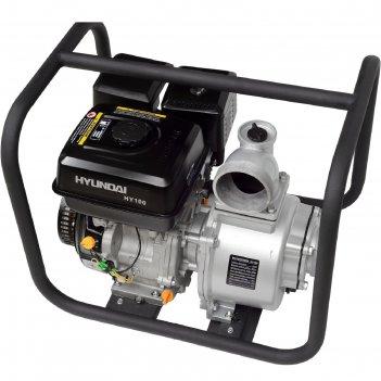 Мотопомпа бензиновая hyundai hy 100, 6.71 квт, 1335 л/мин, ручной стартер,