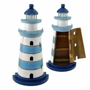 226012 маяк - ключница, бело-голубой, 23х45х11см