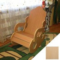 Кресло-качалка мини 74х47,5х87 см, цвет береза рижская