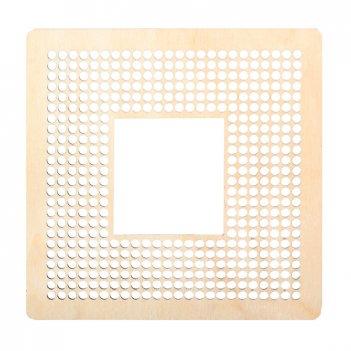 Декоративная плитка квадрат с перфорацией для вышивки и декора