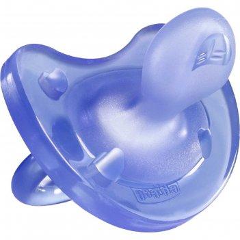 Пустышка силиконовая ортодонтическая physio soft, от 0 до 6 мес., цвет сир