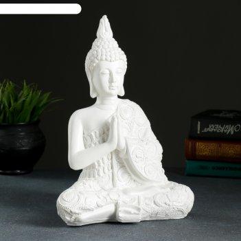 Фигура будда средний белый