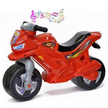 Ор501в3 каталка-мотоцикл беговел racer rz 1 с музыкой, цвет уточняйте