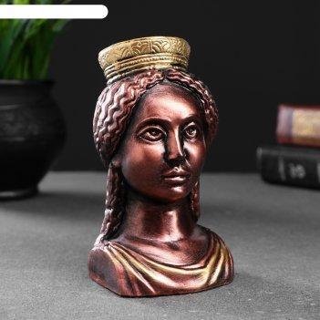 Фигура богиня тэхе (судьба) бронза 12х10см
