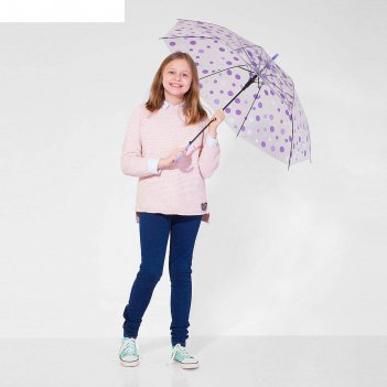 Зонт детский горохи, фиолетовый, d=90 см
