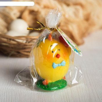 Свеча пасхальная «цыпленок с яйцами», 4,5 х 5,7 см
