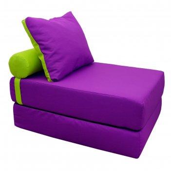 Кресло-кровать, размер 70х200 см, фиолетовый