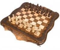 Шахматы + нарды резные арарат 60, ohanyan (61х72см)