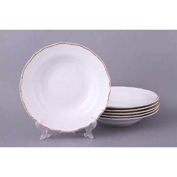 Набор суповых тарелок из 6 шт. офелия 662 диаметр=23 см.