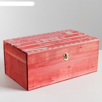 Ящик деревянный «новогодняя почта», 35 x 20 x 15 см
