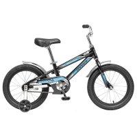 Велосипед 16 novatrack dodger, цвет черный