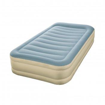 Кровать надувная essence fortech twin 191х97х36 см, с подголовником, со вс
