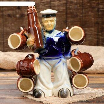 Набор коньячный моряк с бутылкой, 7 предметов, 0,75л