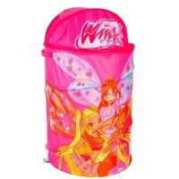 Корзина для игрушек winx с крышкой и ручками, цвет розовый