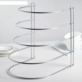 Подставка для хранения сковородок (вертикальная), хром