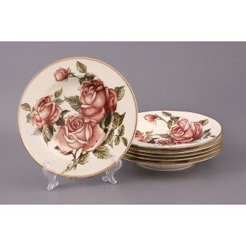 Набор глубоких тарелок из 6 шт. корейская роза d...