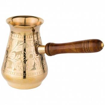 Турка резная 370мл. латунь (кор=48шт.)