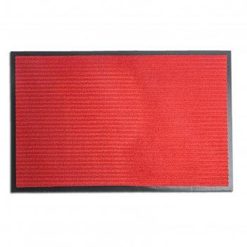 Коврик влаговпитывающий, ребристый стандарт 50 х 80 см, красный