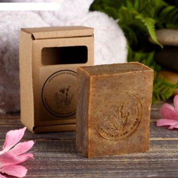 Натуральное крафтовое травяное мыло лавр благородный в коробке, добропаров