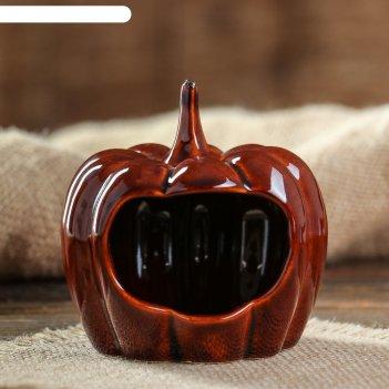 Кормушка для хомячков тыква  цвет коричневый