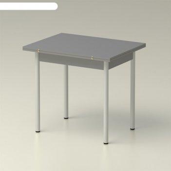 Стол обеденный  раскладной 860х650, титан