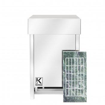 Электрическая печь karina eco 10, нержавеющая сталь, камень змеевик