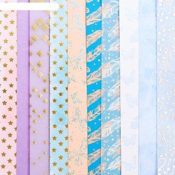 Набор бумаги для скрапбукинга «сказка», 10 листов, 20 x 20 см