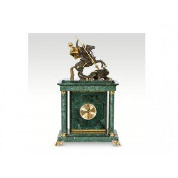 Часы-сейф из мраморагеоргий победоносец(арт.с-037)