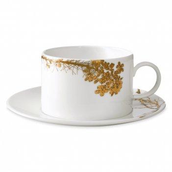 Пара чайная вера ванг золотое кружево, объем: 200 мл, материал: костяной ф