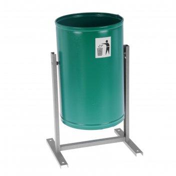 Урна для мусора 21 л уралочка бюджет, цвет зеленый