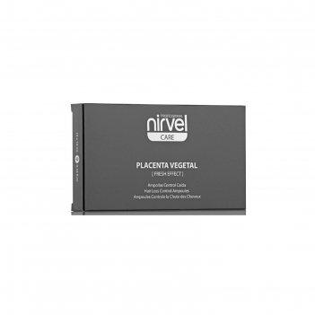 Лосьон против выпадения волос nirvel professional placenta vegetal, 10 амп
