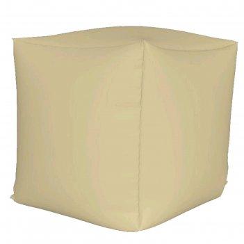 Пуфик куб мини, ткань нейлон, цвет бежевый