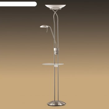 Торшер со столиком axton 2x300вт+40вт r7s 118 mm+g9 серебро